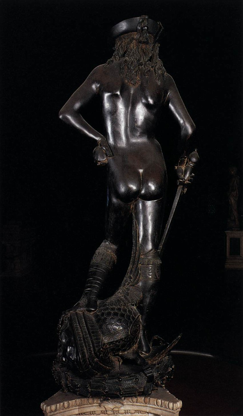 an evaluation of the bronze sculpture of david by donatello