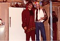 R: E. Ray, at a Halloween Party in Nashville. (1980-1984).