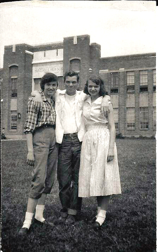 HUNTSVILLE HIGH SCHOOL.  JANIS CHAMBERS, BILLY RAY JEFFERS, and PAULETTA HARNESS.