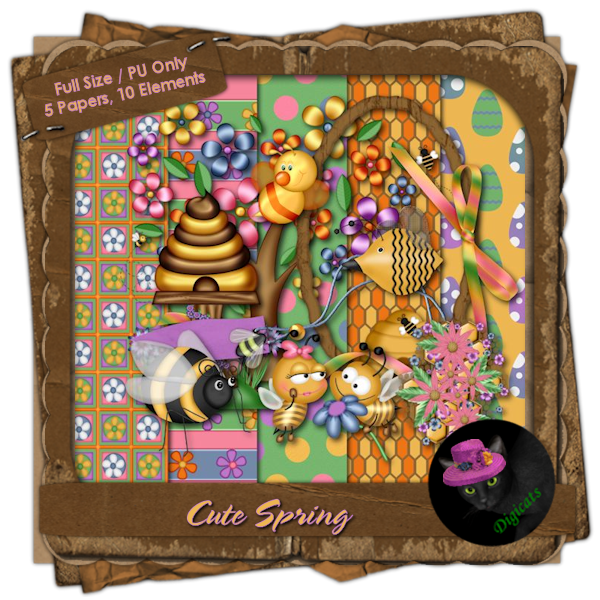 Cute Spring Mini Kit 1 - Buzzy Bees