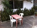 Zamora is a Peaceful Place to Study Spanish...  One of my Study Tables :-). You can choose inside or outside.