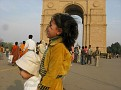 India Gate Memorial Arch. Kids View!!!