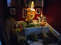Sivananda Ashram Yoga Ranch... Temple (statue of Hare Krishna) Photo of Christ in on the wall.