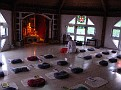 Sivananda Ashram Yoga Ranch... Getting ready for Satsang...